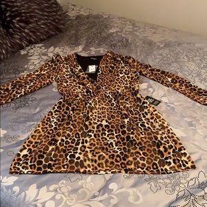 Express animal print dress, size S, new with tags
